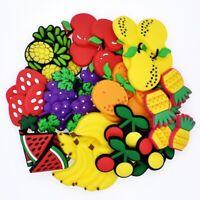 50pcs All Kinds Of Fruits PVC Shoe Charms Decorations For Hole Shoes/Bracelets