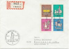 BERLIN 1969 Wohlfahrt Zinnfigurenkompletter Satz Pra.-FDC seltene portogerecht