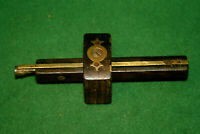 FINE & SHOWY Carpenters Rosewood & Brass Marking Mortise Gauge Scribe Inv#HB36