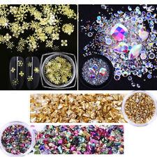 Christmas Glitter Nail Sequin Rhinestones Snowflake X-Mas 3D Nail Art Decoration