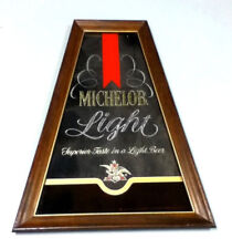 Michelob beer sign mirror Light vintage bar signs 1 Anheuser-Busch Brewery GP51