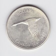 1867-1967 Canada Silver Flying Goose Dollar Confederation Coin L-102