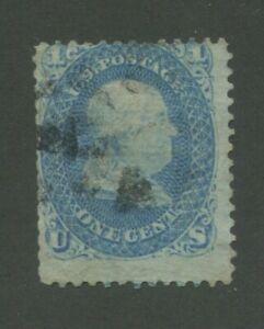 1867 États-unis Timbre-poste #86 D'occasion Délavé Postal Cancel