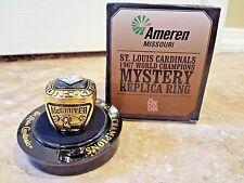 Cardinals 1967 World Series TIM McCARVER Replica Mystery Ring SGA Busch 5-17-17