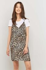 BNWT Urban Outfitters Sparkle & Fade Animal Print Slip Dress.Small 8 10 RRP £42
