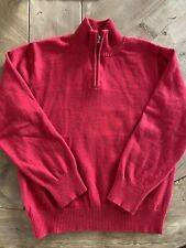 EUC Bella Bliss Boys Red Pullover Cotton Cashmere Sweater Size 8