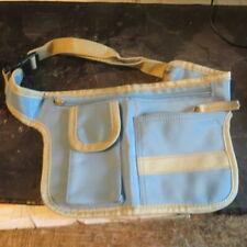 Grand sac de ceinture bleu ciel et blanc – 3 poches POIDS : 81 g LONGUEUR ceintu