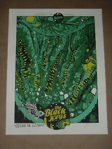 The Black Keys concert poster gig art print Tyler Stout Boston TD Garden 2014