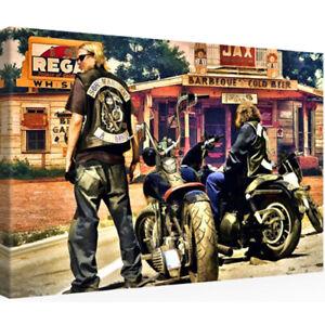 Leinwandbild 30 x 20 SONS OF ANARCHY SOA T-Shirt 1-7 DVD Weste Jacke (1307207)