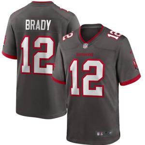 Herren NFL Tom Brady #12 Tampa Bay Buccaneers American Fußball Trikot Jersey
