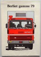 V05615 BERLIET CARS & CAMIONS 1979