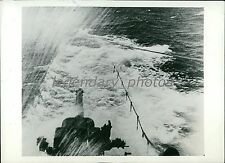 1939 World War II The French Surcouf Submerging Original News Service Photo
