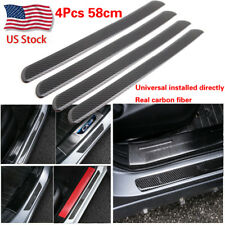 58cm Carbon Fiber Car Door Step Scuff Plate Sill Cover Panel Protect Trim Guard
