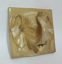 Ceramic Sculpted Elephant Head Tile - Fountain Onsen Bathroom Garden Pond Spout