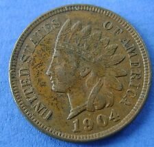1904 USA America 1 Cent 1904 Indian Head - KM# 90a