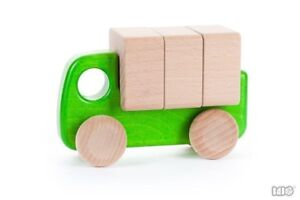 Wooden car with blocks **NEW in box, BAJO brand, Small Lorry