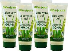 Aloe Pura Gel à L'Aloe Vera 100ml 4x Quatre Pack Certifié Bio -99.9% Pur Purity