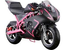 MotoTec Cali 40cc Gas Pocket Bike Pink 4-Stroke EPA Approved Chain Drive 13 & Up