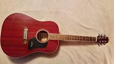 Walden Model D351 SR acoustic guitar transparent red