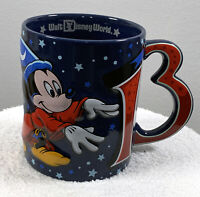 Walt Disney World 2013 Mickey Mouse Fantasia Ceramic Coffee Mug Sorcerer