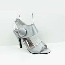 WOMENS LADIES CUT OUT ANKLE CUFF HIGH STILETTO HEEL SANDALS SHOES SIZE 3-8
