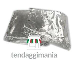 TELO TRASPARENTE OCCHIELLATO PVC PLASTICA PESANTE IMPERMEABILE COPERTURA CRISTAL