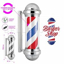 INSEGNA LUMINOSA BARBIERE ROTANTE BARBER POLE VINTAGE PALO BARBER SHOP 23x72,5cm