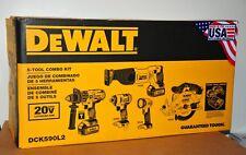 DeWalt DCK590L2 20V MAX Li-Ion 3.0 Ah 5-Tool Combo Kit w/2 Batteries - Brand New