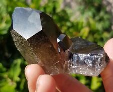STUNNING NATURAL SMOKEY,  QUARTZ CLUSTER/POINT. FROM MADAGASCAR, HEALING CRYSTAL