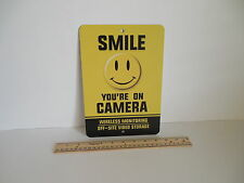 Smile You're On Camera Video Surveillance Security System Metal Yard Sign # 722