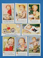 Collection of 8 Vintage Bamforth Comic Tempest Kiddy Series Postcards AM7