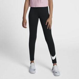 NWT Nike Girls Swoosh Leggings Black - Size L 12-13