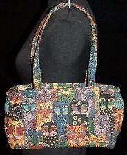 Laurel Burch Cat Print Tapestry Purse Handbag Shoulder Bag Womens Kitten Kitty