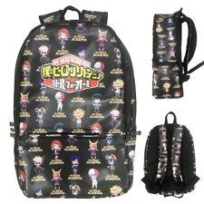 Anime My Hero Academia Backpack Schoolbag PU Leather Knapsack Laptop Bag Gift SS
