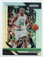 2018-19 Panini Prizm PAUL PIERCE Rare SILVER HOLO REFRACTOR #175 Boston Celtics