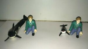 Long John Silver's 1995 Free Willy movie toy figures Jesse Orca Killer Whale