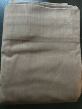 """Restoration Hardware Casual Twill Lined Panel Curtain Drape 50 X 84"""" - Brown"""