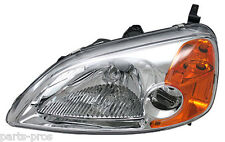 New Replacement Headlight Assembly LH / FOR 2001-03 HONDA CIVIC 2-DOOR COUPE