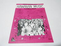 1963 (NOS) HAWAIIAN MUSIC music song book