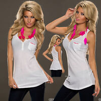 Sexy Women Clubbing Party Dress Ladies Top Girls White Shirt Size 6 8 10 Blouse