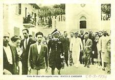 ROCCA  S. CASCIANO  -  Visita del Duce alla cappella votiva