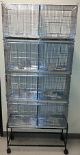 NEW Lot of 4 Bird Finch Canary Breeder Breeding Cages Center Dividers Stand 357