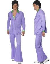 Smiffys - Costume Uomo anni 70 Hippie adulto Taglia L. include Giacca Pantalone
