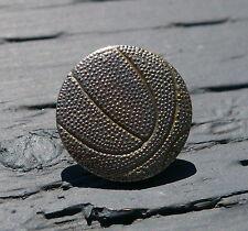 Basketball Basket Ball Metal Letterman Jacket Senior Pin Pinback