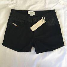 "Diesel Prabagi Girls Age-8 Black Shorts BNWT RRP £79 Pants Jeans 4xxs 22"" 23"""