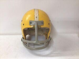 Vintage 1983 Nokona NPJH-8 Medium Football Helmet Yellow Size 6 7/8 - 7 USA MADE