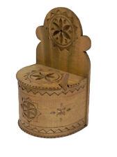 Fatto a mano artigianato SCATOLA IN LEGNO PER SPEZIE SALE PEPE ZUCCHERO Curry o altri
