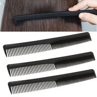 10Pcs Salon Hair Styling Hairdressing Antistatic Barbers Detangle Comb Black w/