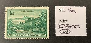 Norfolk Island Sg 3a F/U Cat £28