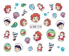 Nail Art Decals Transfers Stickers Cartoon Children Sea Shells (DB478)